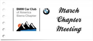 2020 March Sierra Chapter Meeting @ Bill Pearce BMW | Reno | Nevada | United States